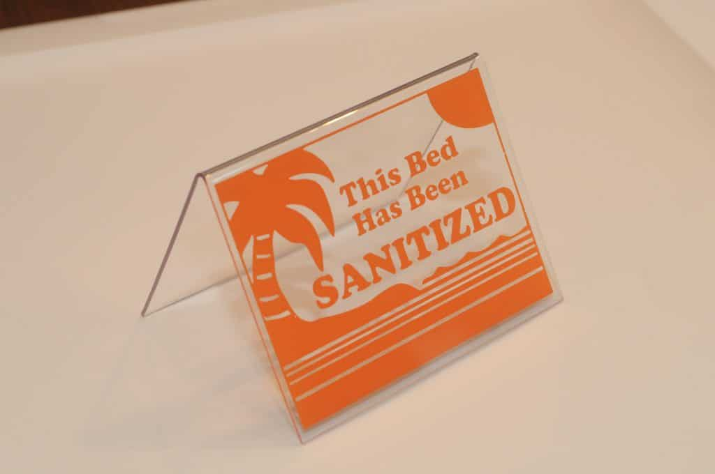 Tent Orange Sanitized